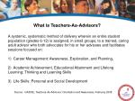 what is teachers as advisors