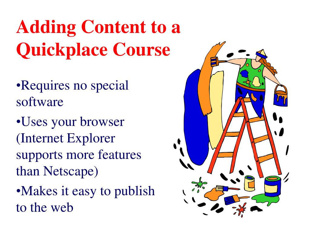 Adding Content to a Quickplace Course