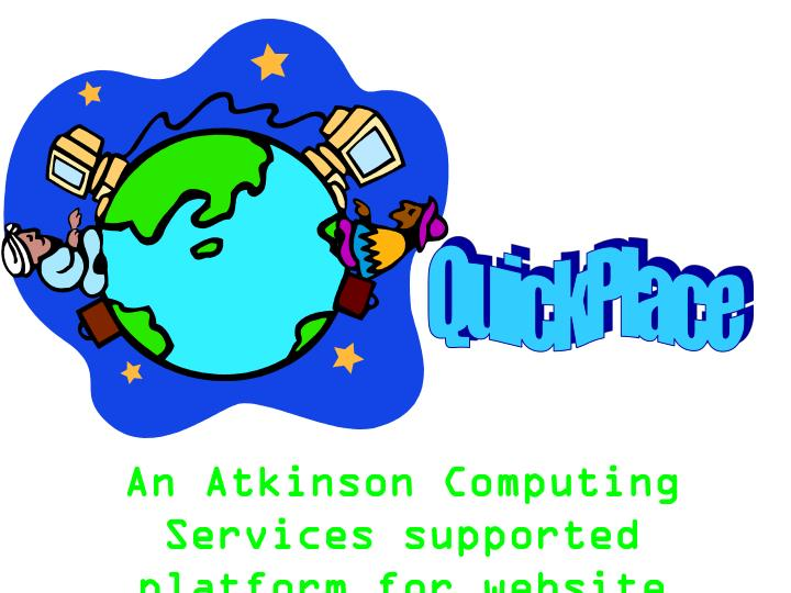 An atkinson computing services supported platform for website development