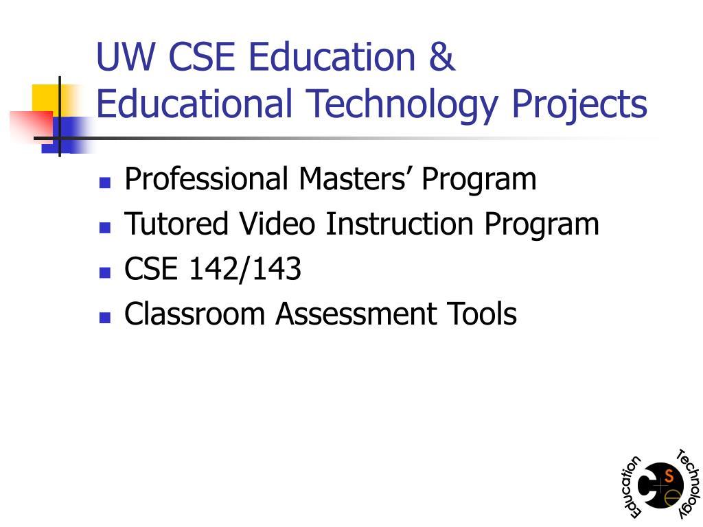UW CSE Education &