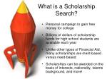 what is a scholarship search