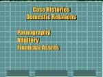 case histories domestic relations19