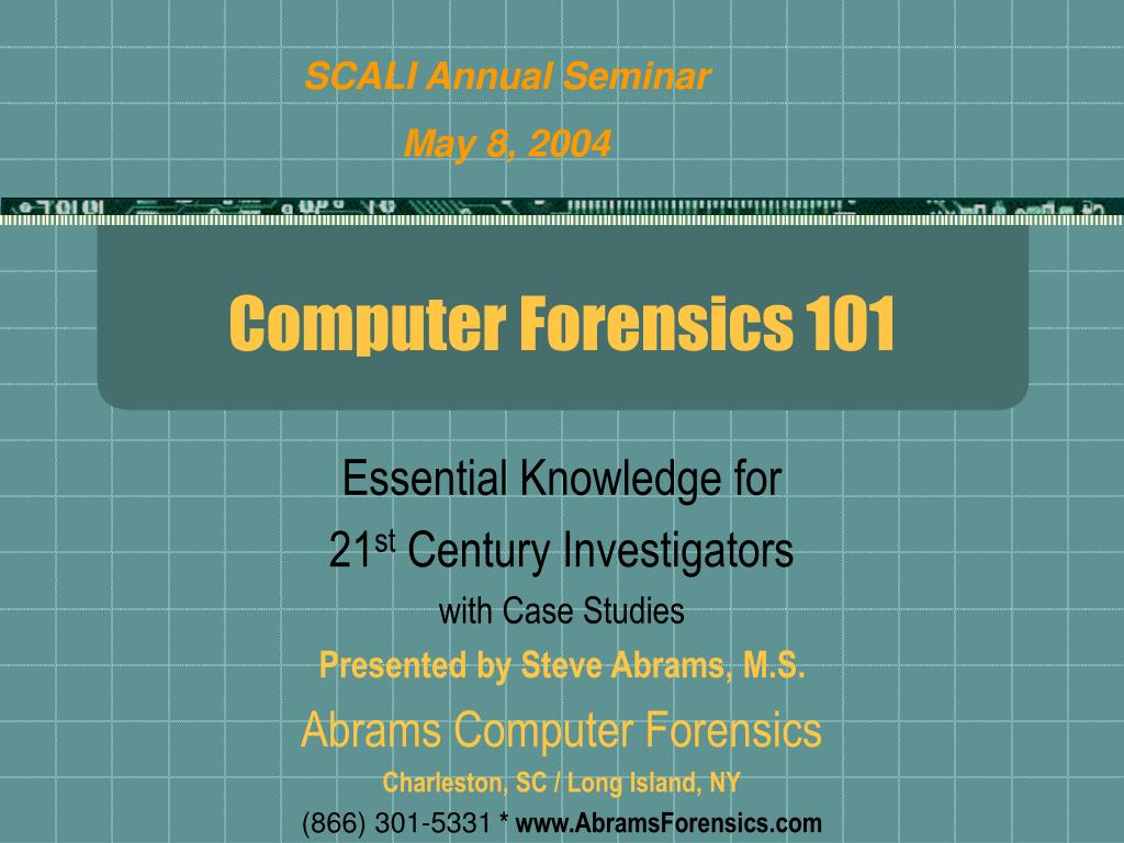 computer forensics 101 l.