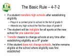 the basic rule 4 7 2