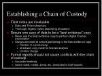 establishing a chain of custody