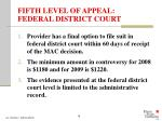fifth level of appeal federal district court