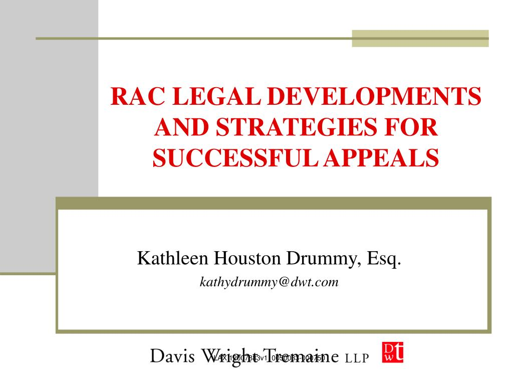 rac legal developments and strategies for successful appeals l.