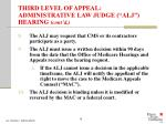third level of appeal administrative law judge alj hearing cont d15