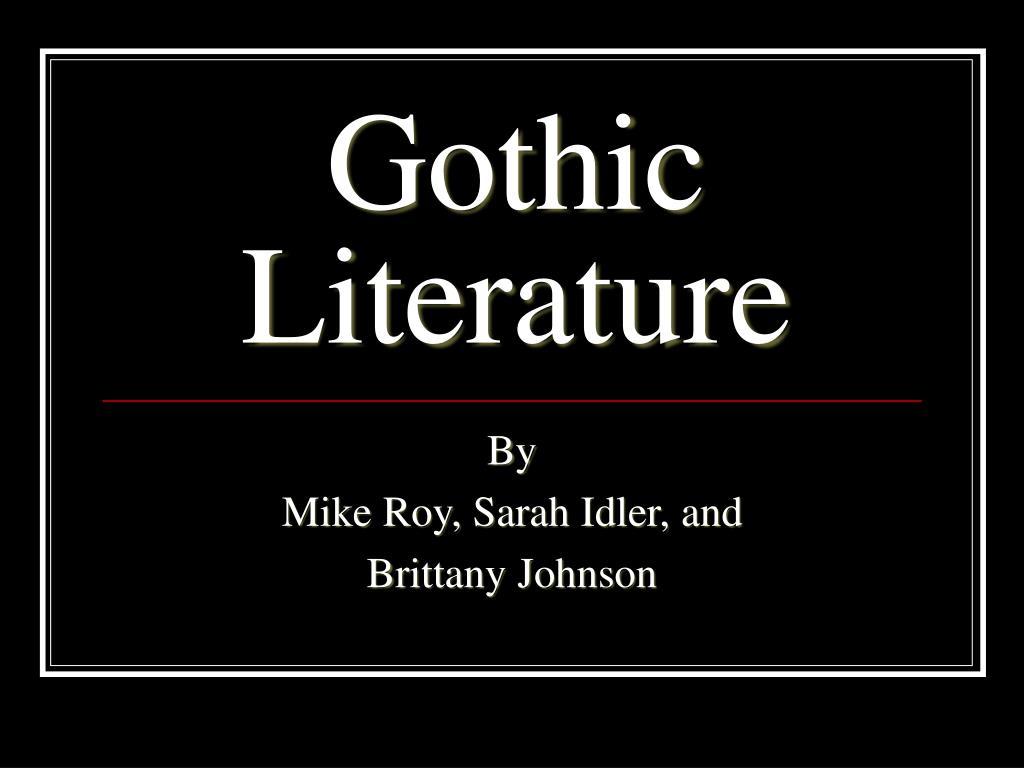 gothic literature l.