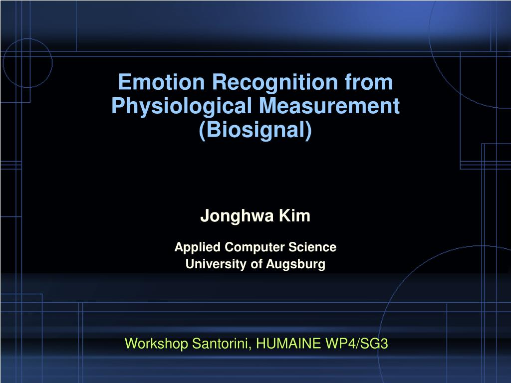 emotion recognition from physiological measurement biosignal l.