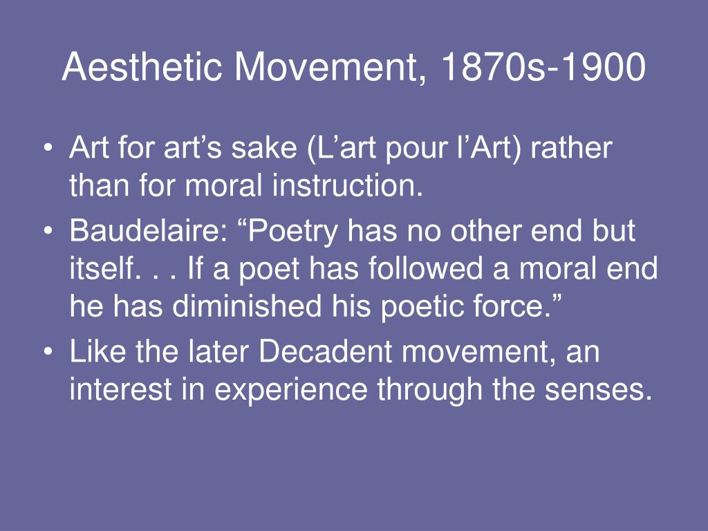 Aesthetic Movement, 1870s-1900