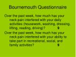 bournemouth questionnaire25