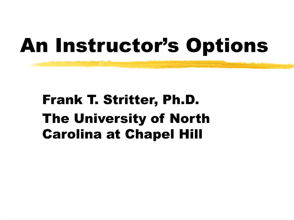 an instructor s options l.