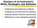 clusters of an instructor s skills strategies and attitudes