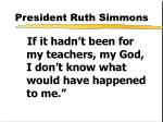 president ruth simmons