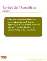 revised self scorable 10 minutes