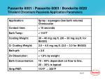 passerite 6001 passerite 6003 bonderite 6020 trivalent chromium passivate application parameters