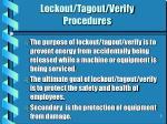 lockout tagout verify procedures