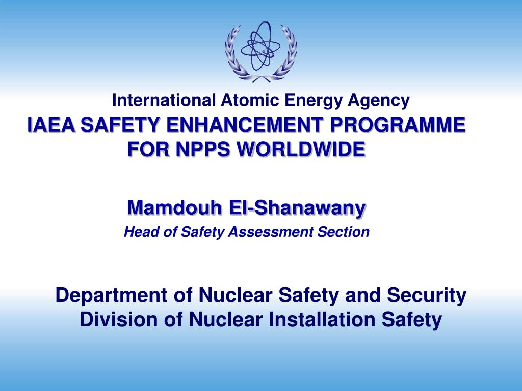 department of nuclear safety and security division of nuclear installation safety l.