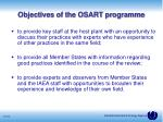 objectives of the osart programme