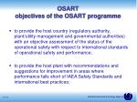 osart objectives of the osart programme