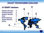 osart programme 2006 200 9