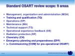 standard osart review scope 9 areas