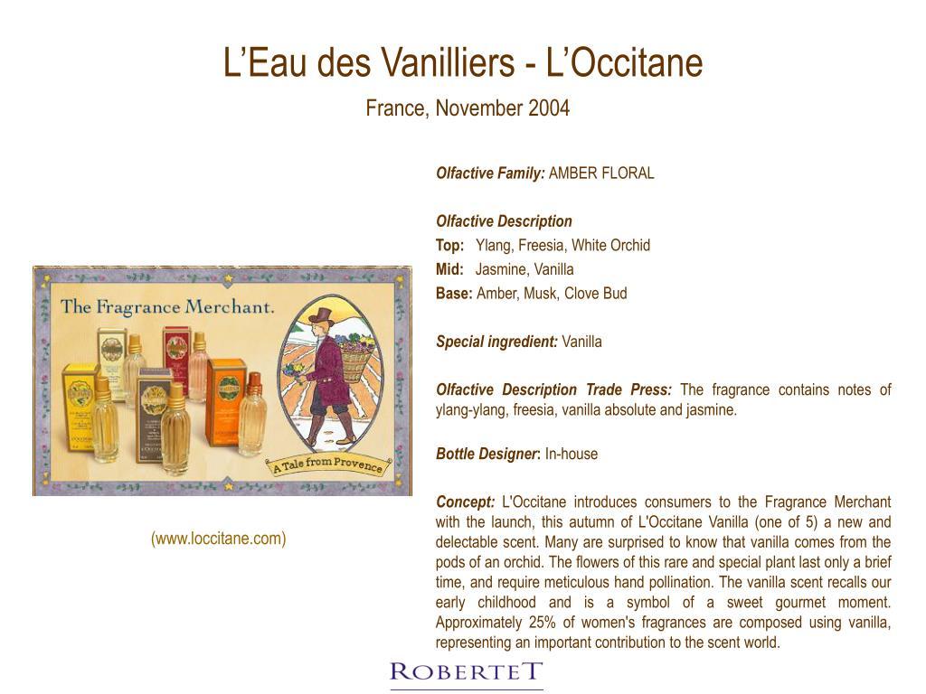 L'Eau des Vanilliers - L'Occitane