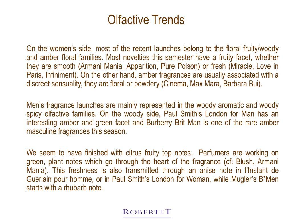 Olfactive Trends