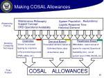 making cosal allowances