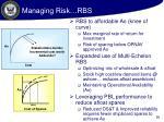managing risk rbs