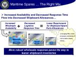 maritime spares the right mix