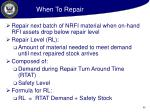 when to repair
