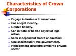 characteristics of crown corporations