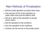 main methods of privatization