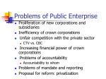 problems of public enterprise
