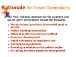 rationale for crown corporations