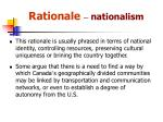 rationale nationalism