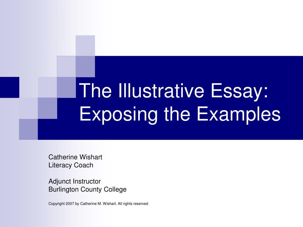 The Illustrative Essay:
