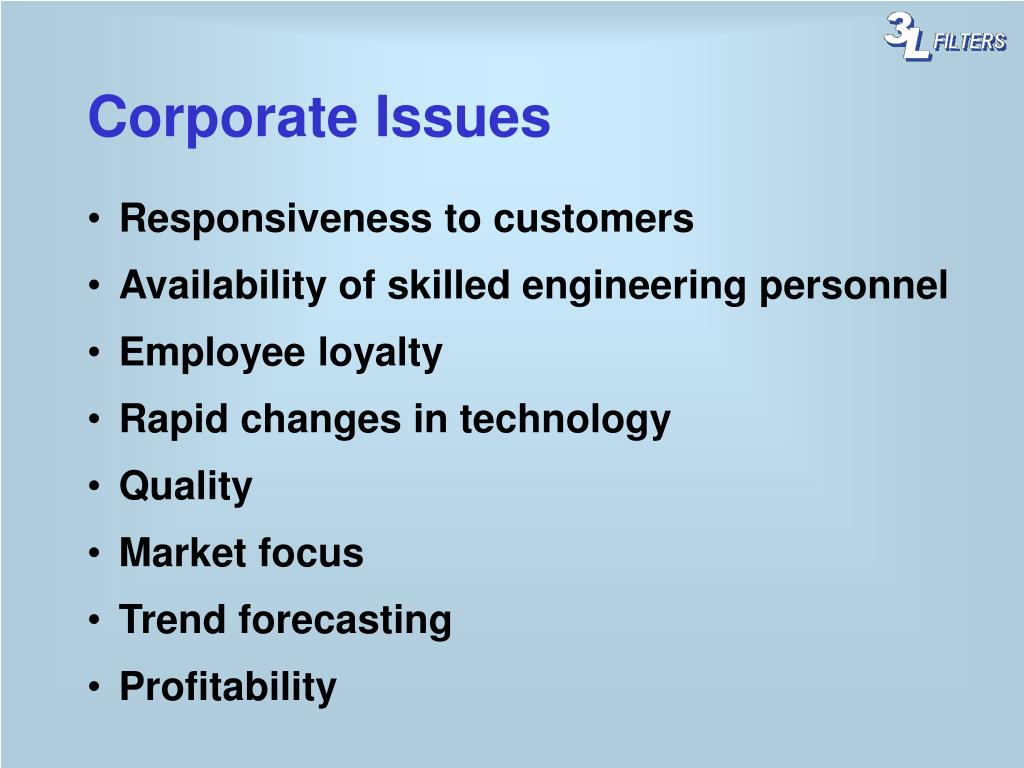Corporate Issues