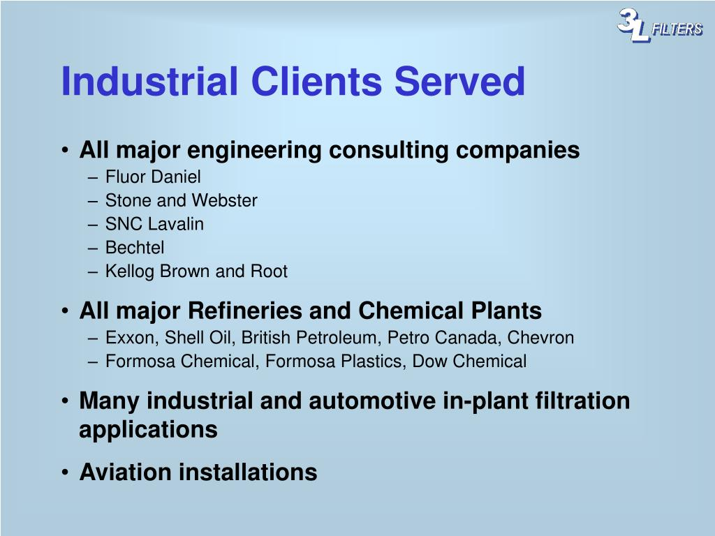 Industrial Clients Served