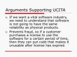 arguments supporting ucita