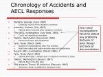 chronology of accidents and aecl responses