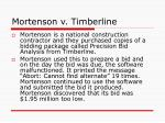 mortenson v timberline