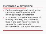 mortenson v timberline17