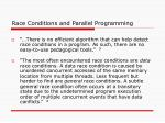 race conditions and parallel programming