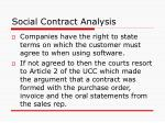 social contract analysis