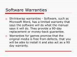 software warranties