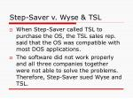 step saver v wyse tsl