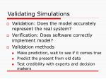 validating simulations